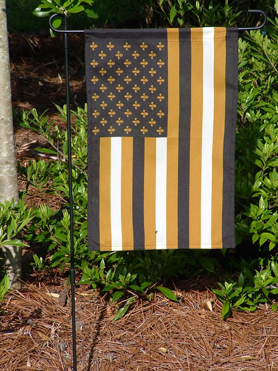 American Black and Gold Flags New Orleans Flags Saints