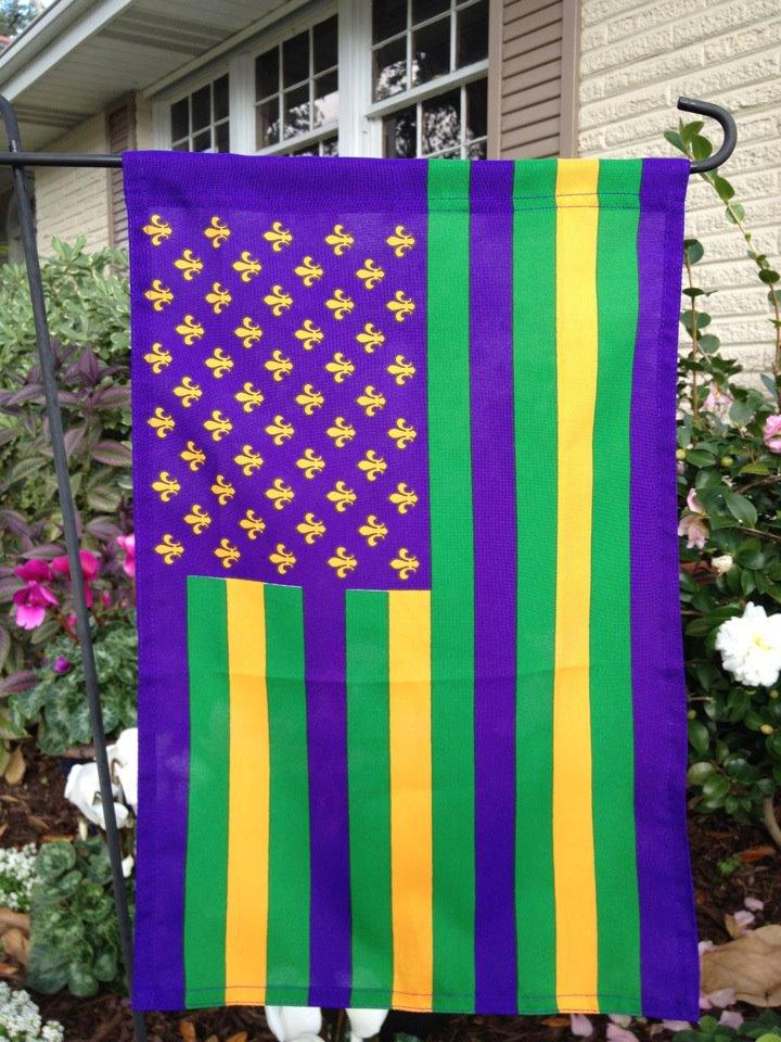 American Mardi Gras Garden Flag